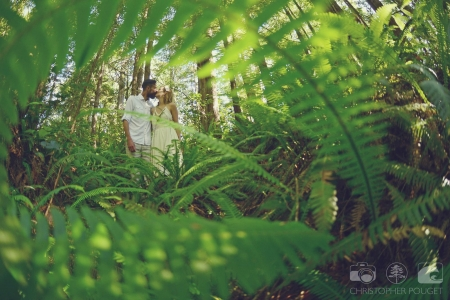 Chris Pouget Photography_Forest Ferns Bride and Groom