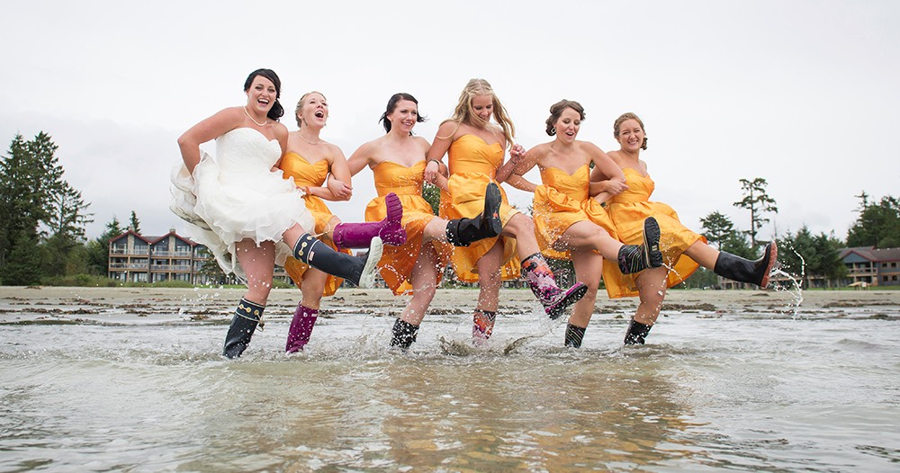 Marnie Recker Photography_Bridal Party in Gumboots